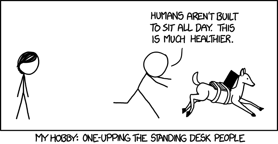 Standing - comic strip from xkcd